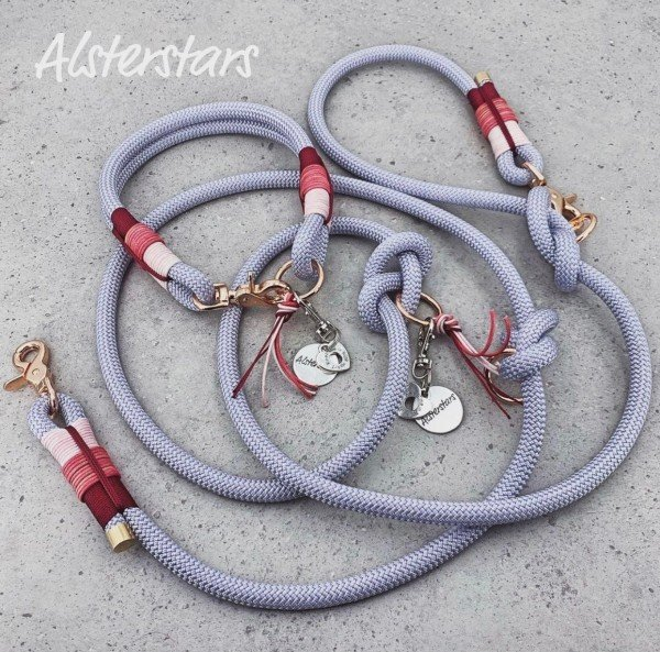 Tauleinenset Silver Rose - Tauhalsband & Tauleine