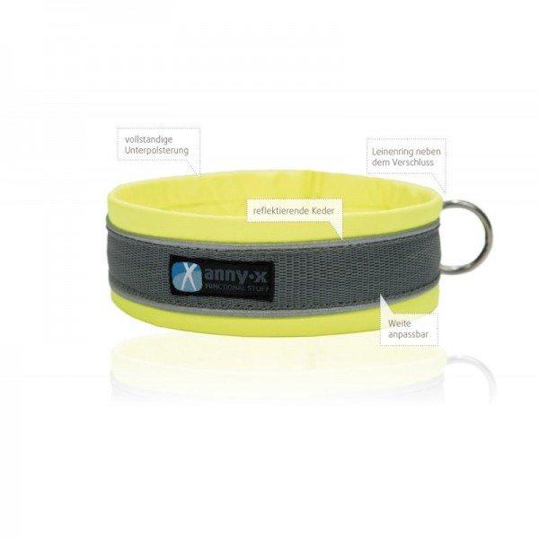 Steckhalsband Protect - gelb/grau