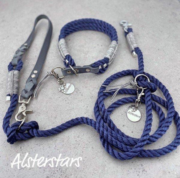 Tauleinenset - Grey Navy