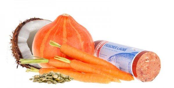 Frischer Lachs mit Reis & Karotten