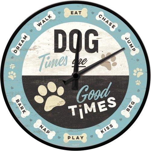 Pfotenschild - Dog Times - Wanduhr