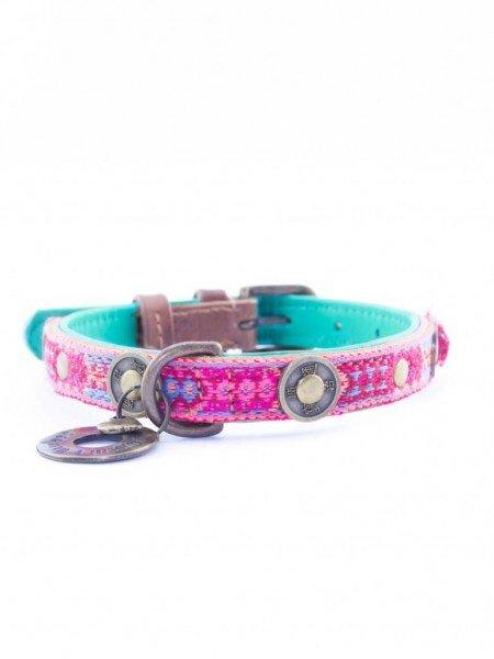 Hundehalsband - Boho Rosa - 2 cm