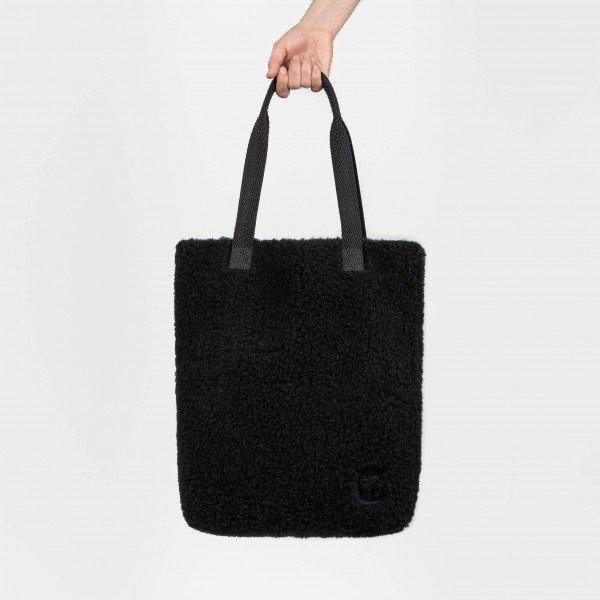 Plüsch Shopper Black