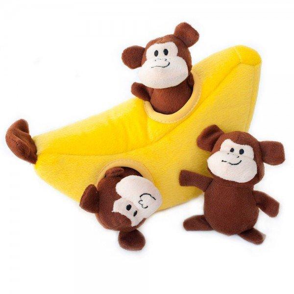 ZippyPaws - Zippy Burrow - Banane mit Äffchen