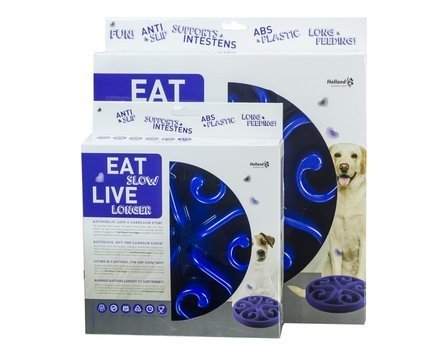 EAT SLOW LIVE LONGER - blau