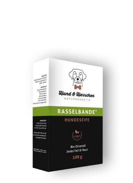 """Hundeseife """"Rasselbande"""" mit Bio Olivenöl Und Meersalz (100g)"""