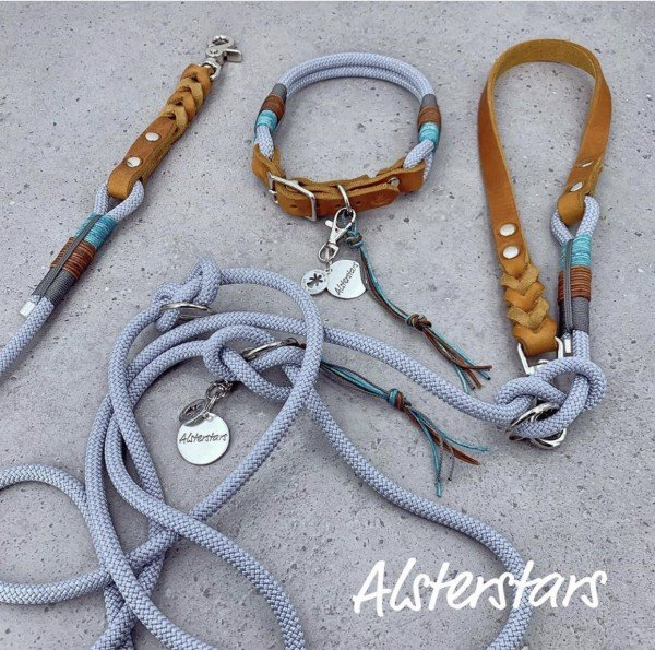 """Tauleinenset """"Leather meets Rope"""" - Silverdream"""