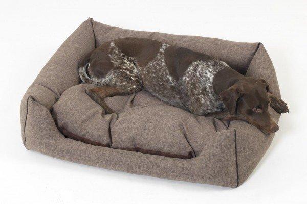 Dogs in the City -Hundekörbchen Box Bett New York - braun