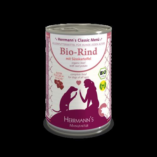 Herrmann's- Bio-Rind mit Süßkartoffel 400g