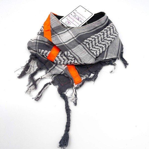 "HundePali Grey ""Big Stripes Neon"" - Orange Oblique - S"