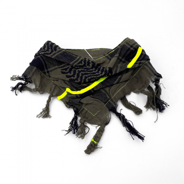"HundePali Oliv ""Stripes Neon"" - Yellow Oblique"
