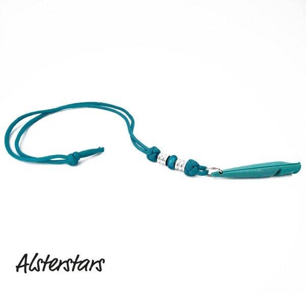 Alsterstars - Pfeifenband - Lovely Türkis inkl. ACME Pfeife 211,5