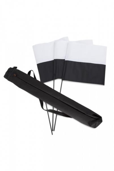 Firedog - Markierungsfahnen-Set Schwarz/Weiß