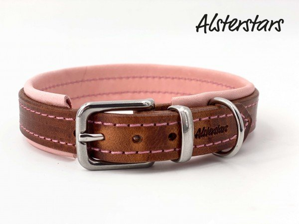 Lederhalsband - Dreamy Leather and Rose
