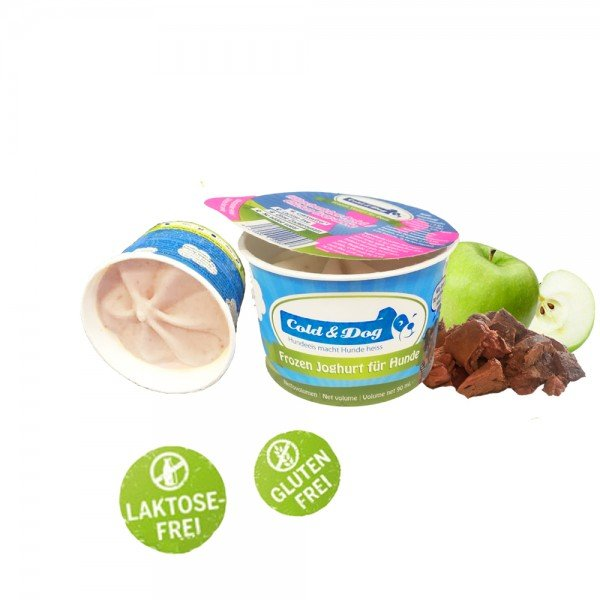 Frozen Joghurt mit Bio Hähnchenleber und Apfel