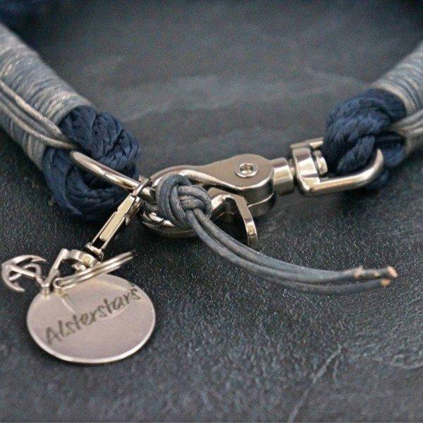 Tauhalsband - Marine Klassik Meets Grey Leather