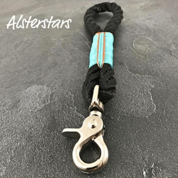 Alsterhaken - Black Sea - Tauwerk Schlüsselanhänger