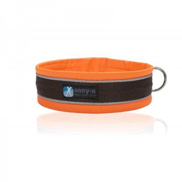 AnnyX - Steckhalsband Protect - Orange/Braun