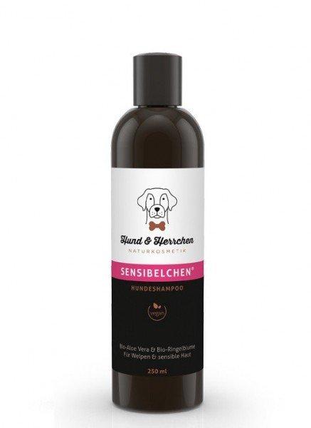 """Hundeshampoo """"Sensibelchen"""" mit Bio Ringelblume Und Bio Aloe Vera für Problemhaut (250 ml)"""