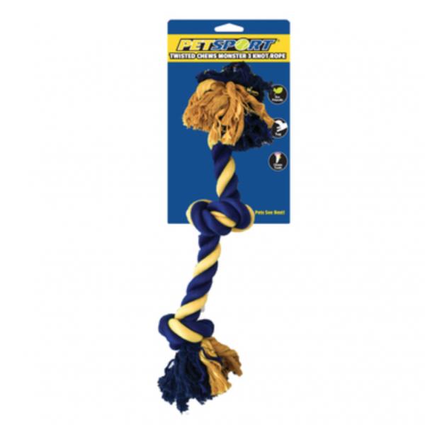 PetSport - Monster 3 Knot Cotton Rope 55 cm