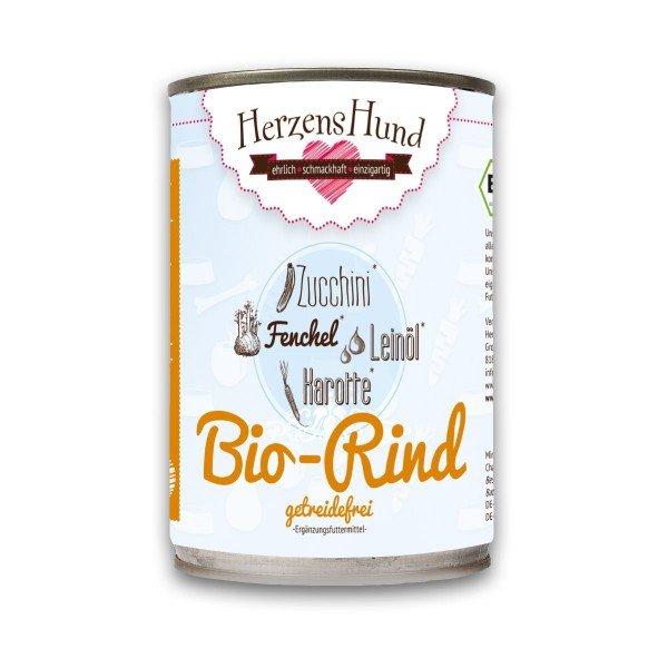 Herzenshund - Bio-Rind mit Bio-Zucchini getreidefrei