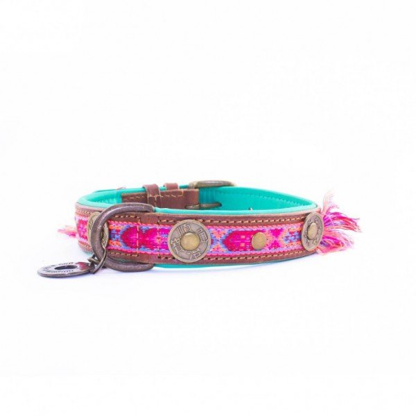 Hundehalsband - Boho Rosa - 2,5 cm