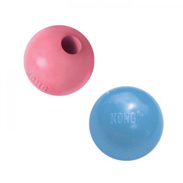 Kong Puppy Ball - blau, rosa