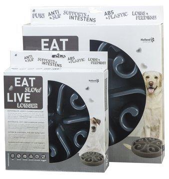 EAT SLOW LIVE LONGER - grau
