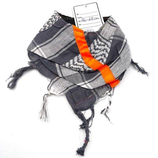 "HundePali Grey ""Big Stripes Neon"" - Orange Oblique - XS"