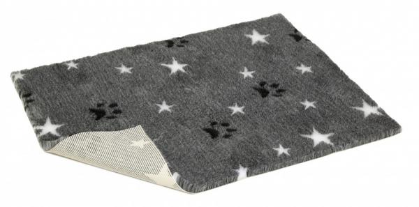 Vetbed Rutschfest - Grau mit Sternen & Pforten