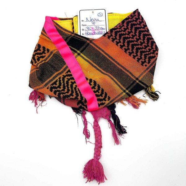 "HundePali Colourful ""Big Stripes Neon"" - Pink Oblique - S"