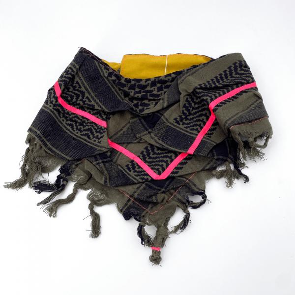 """HundePali Oliv """"Stripes Neon"""" - Pink Oblique"""