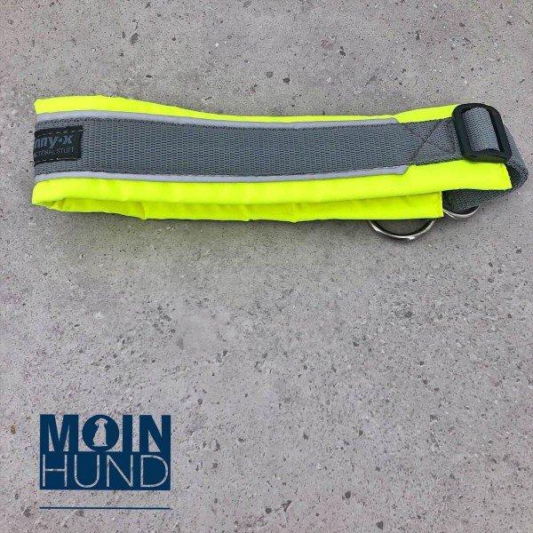 Zugstopphalsband Protect leuchtgelb/grau