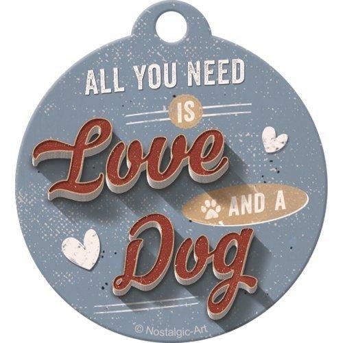 Pfotenschild - Love Dog - Schlüsselanhänger