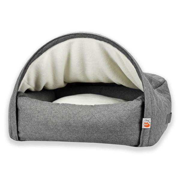 Kuschelhöhlenbett für Hunde - GRAU - Sleepy Fox ®