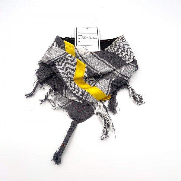 "HundePali Grey ""Big Stripes"" - Yellow Oblique - S"