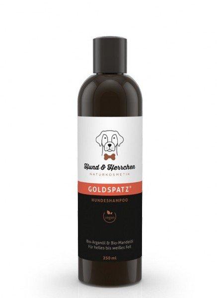 "Hundeshampoo ""Goldspatz"" für helles & weißes Fell"