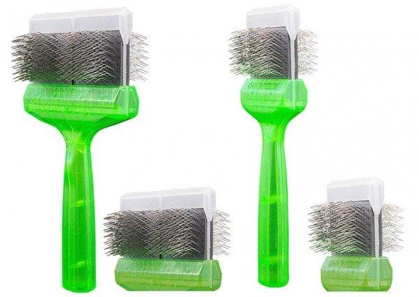 Bürste Pro Soft (grün)   2In1 Bürste (Bürsten/Entfilzen)