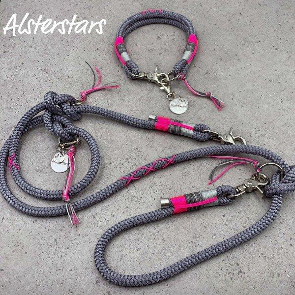Alsterstars Tauleinenset - Protect Pink meets dark Grey