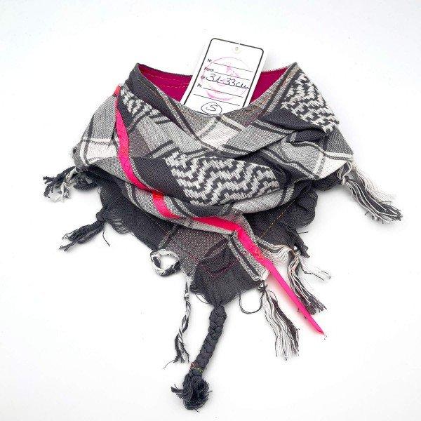 "HundePali Grey ""Stripes Neon"" - Pink Oblique - S"