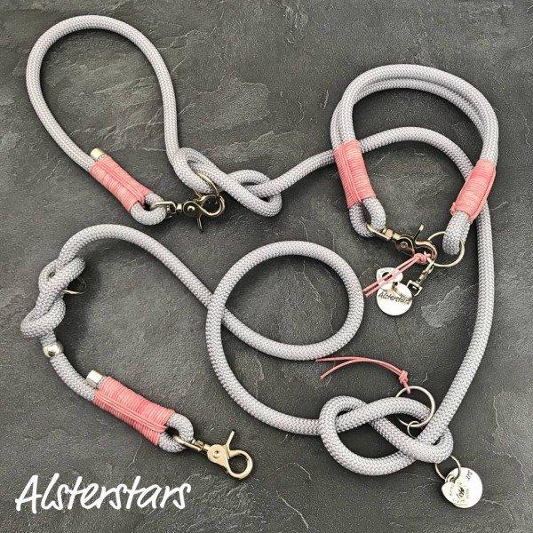 Alsterstars Set - Silver meets Vintage Pink Leather