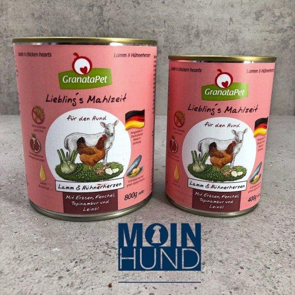 Liebling's Mahlzeit - Lamm& Hühnerherzen