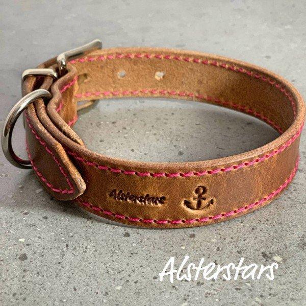 Lederhalsband Alsterstars